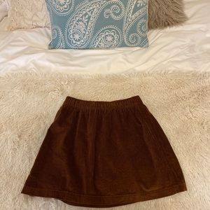 Orange/brown corduroy skirt